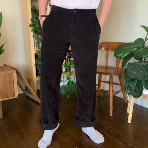 "Eddie Bauer Black Men's Corduroy Pants - 36"""
